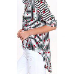 KOSZULA DŁUGI RĘKAW DAMSKA, Z WISKOZY. Szare koszule wiązane damskie Top Secret, na jesień, z wiskozy, eleganckie, z długim rękawem. Za 99,99 zł.