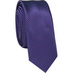 Krawat KWGS001641. Czerwone krawaty męskie Giacomo Conti, w kropki, z mikrofibry, eleganckie. Za 69,00 zł.