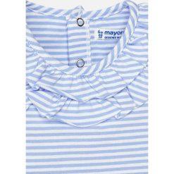 Mayoral - Top dziecięcy 68-98 cm. Szare bluzki dziewczęce Mayoral, z bawełny, z okrągłym kołnierzem, z krótkim rękawem. Za 69,90 zł.