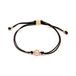 Bransoletki damskie: Bransoletka w kolorze czarnym z kryształem Swarovski