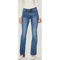 Answear - Jeansy. Szare jeansy damskie marki ANSWEAR, l, z poliesteru, z długim rękawem, długie. W wyprzedaży za 99,90 zł.