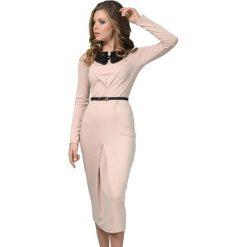 Długie sukienki: Sukienka w kolorze pudrowym