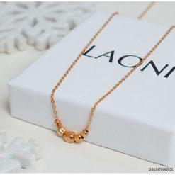Naszyjniki damskie: Naszyjnik z różowego złota z kosteczkami