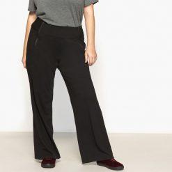 Spodnie z wysokim stanem: Szerokie spodnie z dzianiny milano