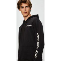 Calvin Klein Jeans - Bluza. Czarne bluzy męskie rozpinane Calvin Klein Jeans, l, z nadrukiem, z bawełny, z kapturem. Za 499,90 zł.