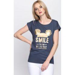 Bluzki damskie: Niebieska Bluzka Always Smile