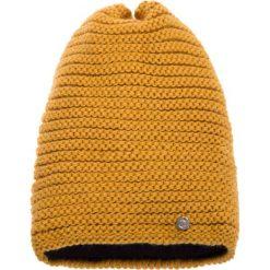 Czapki damskie: Musztardowa prążkowana czapka QUIOSQUE