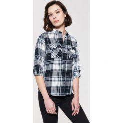 Koszula w kratę - Niebieski. Szare koszule męskie marki House, l, z bawełny. Za 79,99 zł.