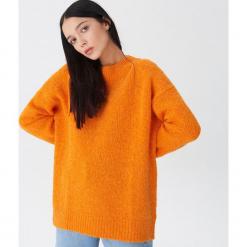 Sweter z wełną - Pomarańczo. Szare swetry klasyczne damskie marki House, l, z wełny. Za 119,99 zł.