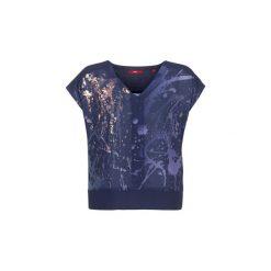 T-shirty z krótkim rękawem S.Oliver  WEKKUO. Niebieskie t-shirty damskie S.Oliver, s. Za 143,20 zł.