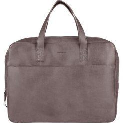Skórzana torebka w kolorze szarym na laptop - 37 x 30 x 6 cm. Szare torby na laptopa marki Bloomsbury, w paski, ze skóry. W wyprzedaży za 337,95 zł.