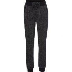 Spodnie dresowe damskie: Spodnie dresowe z połyskującą nitką bonprix czarno-srebrny