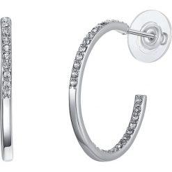 Biżuteria i zegarki: Kolczyki-półkreole z kryształkami Swarovski