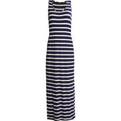 Długie sukienki: Cortefiel Długa sukienka marine blue