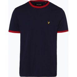 Lyle & Scott - T-shirt męski, niebieski. Niebieskie t-shirty męskie Lyle & Scott, m, z aplikacjami, z kontrastowym kołnierzykiem. Za 149,95 zł.