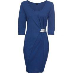 Sukienka z dżerseju z aplikacją bonprix kobaltowo-srebrny. Niebieskie sukienki na komunię bonprix, z aplikacjami, z dżerseju, z kopertowym dekoltem, kopertowe. Za 89,99 zł.
