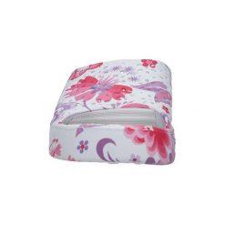 Buty do sportów wodnych Casu  Białe klapki w kwiatki na koturnie  1025 - 2