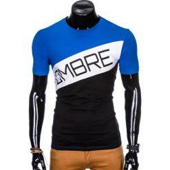 T-SHIRT MĘSKI Z NADRUKIEM S650 - CZARNY. Czarne t-shirty męskie z nadrukiem Ombre Clothing, m. Za 35,00 zł.