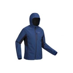 Kurtka Softshell trekkingowa Trek 900 WindWarm męska. Niebieskie kurtki męskie outdoor QUECHUA, l, z elastanu. Za 199,99 zł.