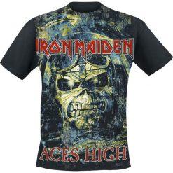 Iron Maiden Aces High T-Shirt czarny. Czarne t-shirty męskie z nadrukiem Iron Maiden, m, z dekoltem na plecach. Za 79,90 zł.