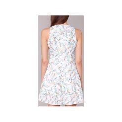 Sukienki krótkie Morgan  RIBEL. Białe sukienki mini marki Morgan, z krótkim rękawem. Za 263,20 zł.