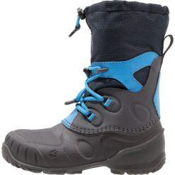 Jack Wolfskin ICELAND PASSAGE Śniegowce dark sky. Szare buty zimowe damskie marki Jack Wolfskin, z materiału. Za 409,00 zł.