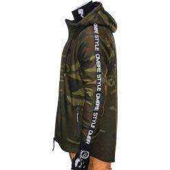 BLUZA MĘSKA ROZPINANA Z KAPTUREM B741 - ZIELONA/MORO. Zielone bluzy męskie rozpinane marki Ombre Clothing, m, moro, z bawełny, z kapturem. Za 69,00 zł.