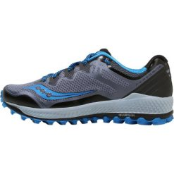 Saucony PEREGRINE 8 Obuwie do biegania Szlak black/grey/blue. Czarne buty do biegania męskie Saucony, z materiału. W wyprzedaży za 455,20 zł.