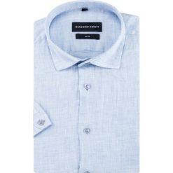 Koszula SIMONE slim KLNS500026. Brązowe koszule męskie slim marki QUECHUA, m, z elastanu, z krótkim rękawem. Za 199,00 zł.