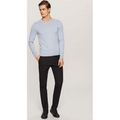 Rurki męskie: Spodnie chino slim fit - Czarny