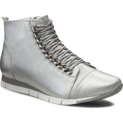 Sneakersy CARINII - B3333 Dave Met Su 6651/037. Szare botki damskie skórzane marki Carinii. W wyprzedaży za 209,00 zł.