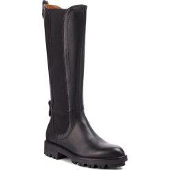 Kozaki GINO ROSSI - DK098M-TWO-CGTK-9999-0 99/99. Czarne buty zimowe damskie marki Kazar, ze skóry, na wysokim obcasie. W wyprzedaży za 519,00 zł.