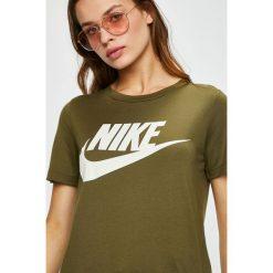 Nike Sportswear - Top. Brązowe topy damskie Nike Sportswear, l, z nadrukiem, z dzianiny, z okrągłym kołnierzem. Za 139,90 zł.