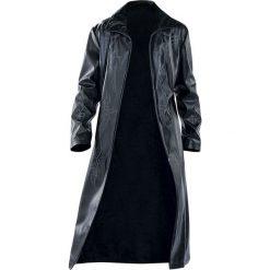 Tribal Coat Płaszcz z ekoskóry czarny. Czarne płaszcze na zamek męskie marki Tribal Coat, xl, z materiału, klasyczne. Za 446,90 zł.