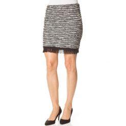 Minispódniczki: Spódnica w kolorze czarno-biało-szarym