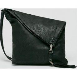 Medicine - Torebka Secret Garden. Czarne torebki klasyczne damskie MEDICINE, w paski, z materiału, duże. Za 119,90 zł.