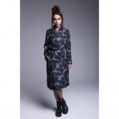 Naoko - Płaszcz Wanderlust. Szare płaszcze damskie pastelowe NAOKO, l, w paski, z bawełny. Za 399,90 zł.