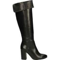 Kozaki ocieplane - WAVE2308 NERO. Czarne buty zimowe damskie Venezia, ze skóry. Za 319,00 zł.