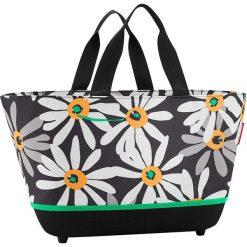 Shopper bag damskie: Shopper bag w kolorze czarno-białym – 48 x 28 x 33 cm