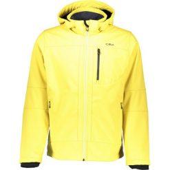 Kurtki męskie: Kurtka softshellowa w kolorze żółtym