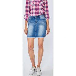 Only - Spódnica Pearl. Szare minispódniczki ONLY, z bawełny, dopasowane. W wyprzedaży za 79,90 zł.