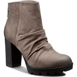 Botki CARINII - B3616 H28-000-PSK-B46. Brązowe buty zimowe damskie Carinii, z materiału, na obcasie. W wyprzedaży za 199,00 zł.