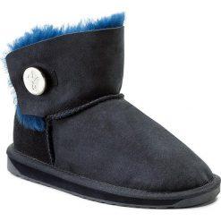 Buty EMU AUSTRALIA - Denman Mini W11255 Midnight. Niebieskie kozaki damskie skórzane EMU Australia, na niskim obcasie. W wyprzedaży za 379,00 zł.