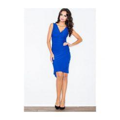 Sukienka Beatrice M053 Niebieski. Białe sukienki marki NIFE, eleganckie. Za 89,00 zł.