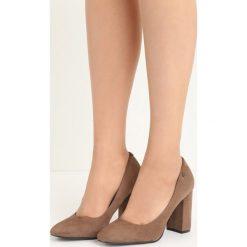 Khaki Czółenka Temptress. Brązowe buty ślubne damskie marki Born2be, na wysokim obcasie, na słupku. Za 79,99 zł.