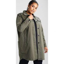 Płaszcze damskie pastelowe: Zizzi CAMBRIDGE CROPPED JACKET Krótki płaszcz dusty olive
