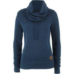 Sweter bonprix ciemnoniebieski. Niebieskie swetry klasyczne damskie bonprix. Za 89,99 zł.
