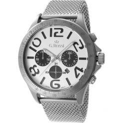 Zegarki męskie: Zegarek Gino Rossi męski Konder srebrny (11520D-3C1)