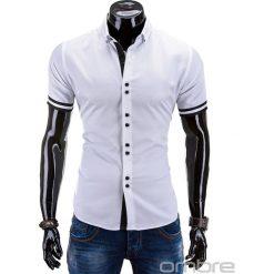 Koszule męskie: KOSZULA MĘSKA Z KRÓTKIM RĘKAWEM K260 – BIAŁA