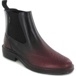 """Buty damskie: Kalosze """"Julietta"""" w kolorze czarno-bordowym"""